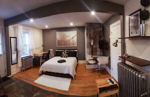 Furnished Studio-- WiFi + Android box --Ensuite laundry-- NOV 1