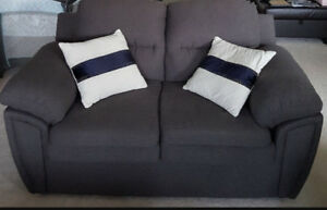 Custom Made 3 piece Grey Sofa Set