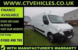 2016 66 reg Vauxhall Movano 2.3CDTI 125ps DRW L4H2 R3500 XLWB Air conditioning