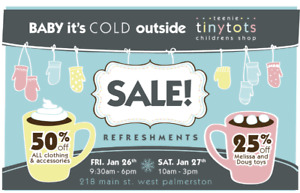 Teenie tiny tots Baby its cold outside SALE! 50%OFF