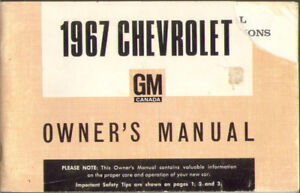 1967 CHEVROLET FULL-SIZE CAR OWNER'S MANUAL & 2 Old GM Manuals