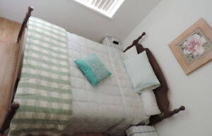 BED FROM SOLID WOOD WITH TWO DRESSERS WITH GIFTS FOR $500.00