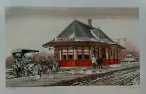 Jarvis Ontario  train station  Ltd edition  print