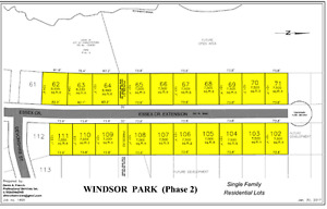 Charlottetown (West Royalty) lots backing onto City park land