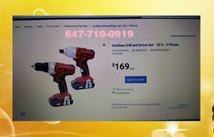 ♥ ♥ ♥ 20V Brand New Cordless Driver Combo Set Only $130