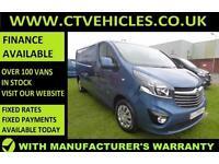 2016 16 plate Vauxhall Vivaro 1.6CDTi Sportive 2900 L2H1 LWB SAT/NAV Van