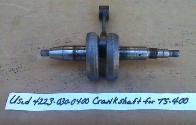 Stihl Crankshaft For Ts400 Concrete Saw 4223 030 0400 Genuine Part - Make Offer
