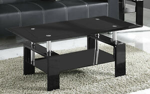 new coffee table black or clear glass white black red