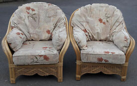 Two quality conservatory cane chairs