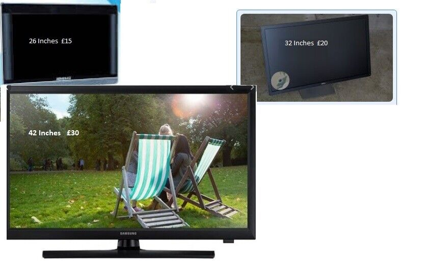 """Used TV's in Essex Area, UK. 42"""", 32"""" and 26"""""""