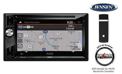 Jensen VX7023 In Dash Touchscreen Navigation Receiver with DMH25J Wifi Dongle