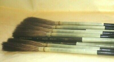 FRENCH MASTER 3017 # 5  X 11 lettering quills brushes  w handleS  SIGN WRITER -