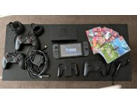 Nintendo Switch, Pro Controller, 7 games