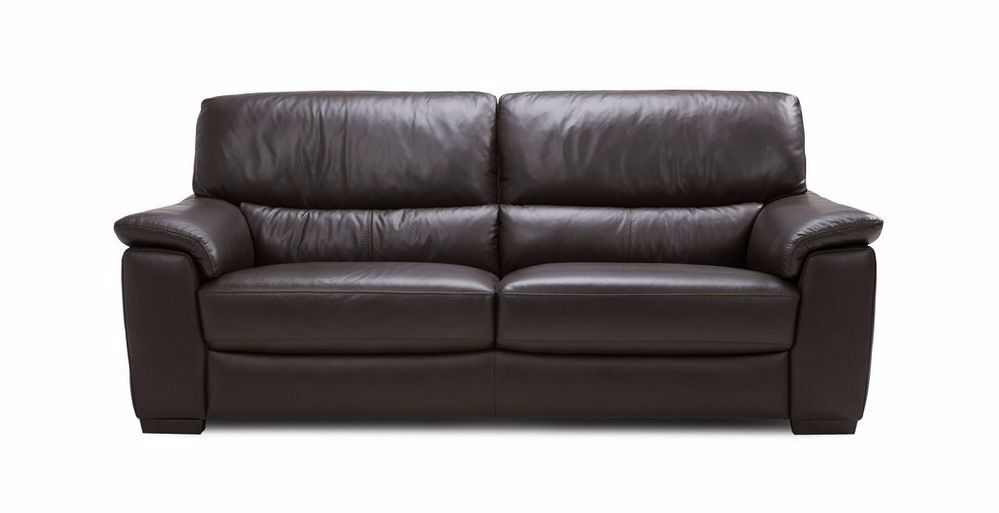 Sofabed Sofa in pristine brown leather with double size fold-out bed. Hardly used. VGC