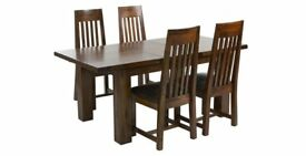 DFS Shiraz Dining Table And 4 Chairs