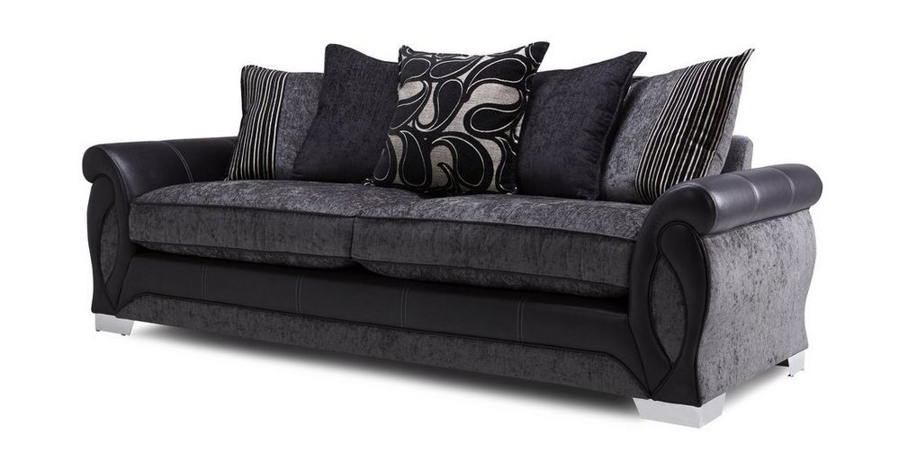 Black/Charcoal Grey 4 Seater Sofa DFS - Like new only 2 ...