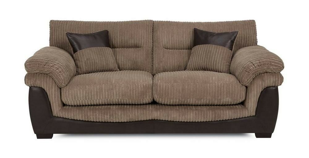 Brand New Dfs Bexley Nutmeg Brown Fabric Large 2 Seater