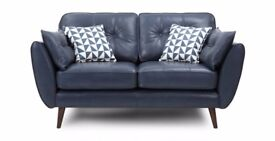 2 French Connection leather setees, hardly been used, a 3 and a 2 seater