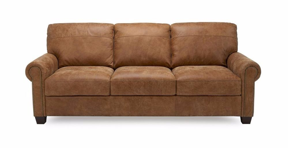 Dfs Davenport 3 Piece Leather Tan Sofa 7 Months Old With Warranty