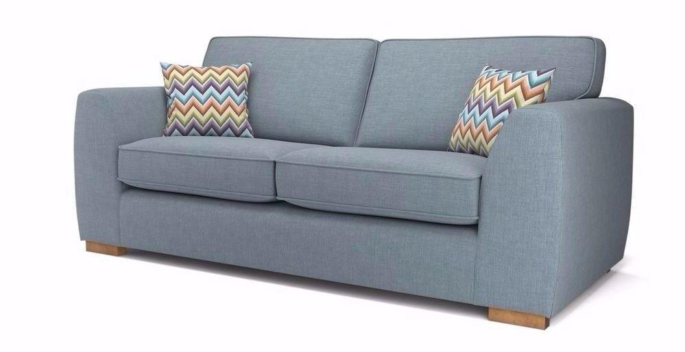 dfs 3 seater sofa vale blue dfs 3 seater sofa vale blue   in bedford bedfordshire   gumtree  rh   gumtree
