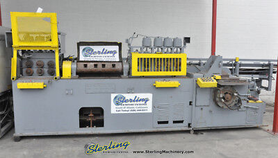 .250 - .635 Used Lewis Wire Straightening And Cut Off Machine With Barfeed 10-