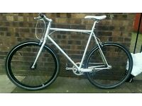 No Logo Silver and Black Single speed *not carrera boardman raleigh apollo giant specialized*