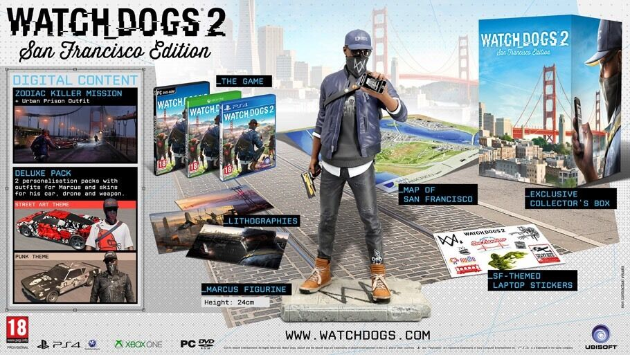 Watch Dogs 2 collectors edition, San Francisco Rare Ps4in Leicester, LeicestershireGumtree - PS4 versions of the watch dogs 2 collectors edition. Complete still sealed in the box. Never been opened