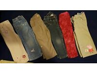 Bundle of girls trousers/jeans 18-24months