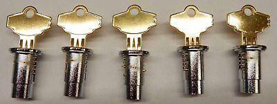 New Lock Keys Set Of 5 For Oak Northwestern Aa Komet Vending Bulk Machine