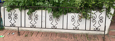 vintage metal Patio railing And gate Wrought Iron Aprox 8meter 1930's