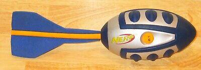 Hasbro Nerf Football Vortex Aero Howler Football Silver Blue Yellow