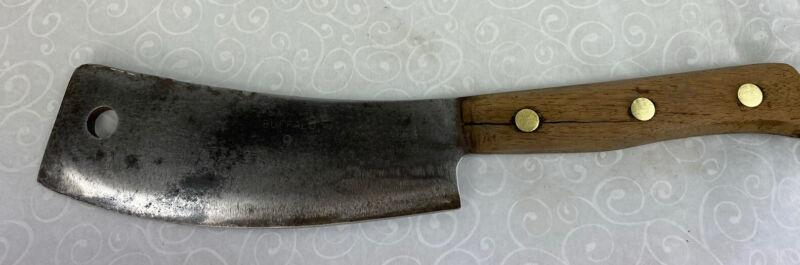 ANTIQUE SMITH Carbon Cleaver Hog/lamb Splitter Butcher Knife RARE HTF Buffalo NY