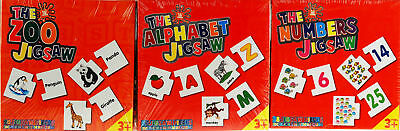 Abc Zoo Alphabet Puzzle - First Zoo Animal, Alphabet, Numbers, Farm Matching Pairs Jigsaw Puzzles