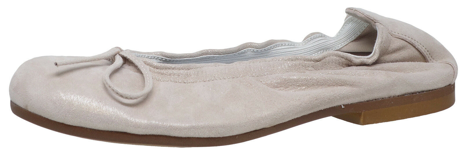 Clic! 4278 Ballerinas Schleife Leder Kinder Schuhe beige schmal Gr. 34, 39 Neu