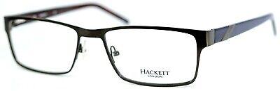 HACKETT LONDON HEK1091 91 Dark Gunmetal Rectangular Mens Eyeglasses 58-18-150