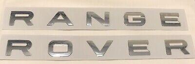 New 2x RANGE ROVER VOGUE Bonnet & Boot Badge Letters *Chrome*
