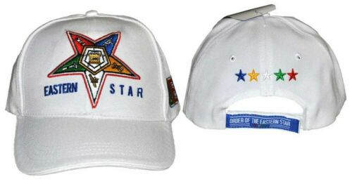 Order of the Eastern Star OES Hat-White-New!