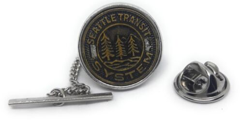 SEATTLE TRANSIT TOKEN TIE TACK / LAPEL PIN MANUFACTURERS DIRECT PRICING