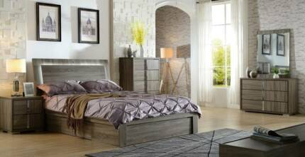 Storage bed with hydraulic lift base Quality bedroom suite sale