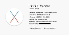 i need 512GB SSD memory for Apple macbook pro 13 ( Early 2015)