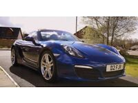 porsche 981 boxster . aqua blue 2.7 .stunning car. (will trade for a nice motorhome )