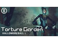 SOLD OUT TORTURE GARDEN 29TH OCT... x2 TICKETS