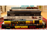 Lot of 10 comics and geek related books, hardbacks, artbooks, collection only, offers accepted