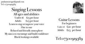 Singing lessons/Guitar Lessons