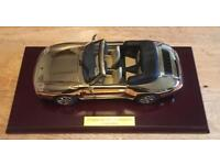 Porsche 911 Carrera cabriolet, plated in 22ct Gold £200