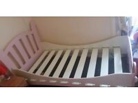 Pink Girls Wood Single Bed Frame Only in Good Condition Very Easy to Dissemble