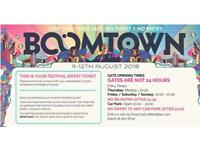 2x Boomtown Tickets