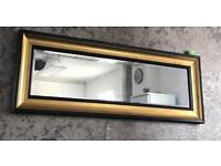 Wall mirror - Free stand - Black and Gold