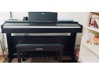 Yamaha Arius YDP-142 Digital Piano Black Including Free Piano Stool with Storage and Headphone