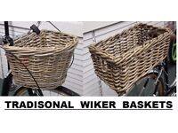 Wicker Traditional Bike Basket / Baskets
